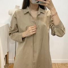 마쉬옐로우 카시아 베이직 롱 셔츠 원피스 (5colors)
