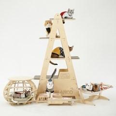 [리퍼상품] [원목캣타워] 에펠타워