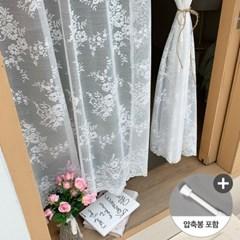 앨리스 앤틱플라워 창문 레이스가리개커튼+봉포함