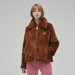 [10/24 예약][FW19 T&J] Faux Fur Jacket(Brown)_(717714)