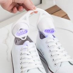 휴대용 LED 살균 발냄새제거 UV 신발건조기 1+1_(2403561)