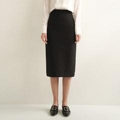 Emery Slit Pencil Skirt_Black_(17054)