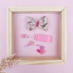핑크빛플라워 헤어핀 세트(6P)
