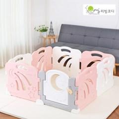 콤마아이 베이비룸 8p 핑크(문포함) 아기안전펜스