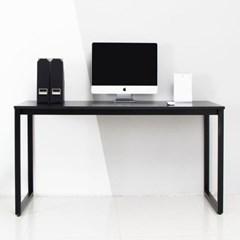 디어 1500 블랙 컴퓨터 입식 책상-블랙프레임