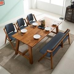 칸쿤 원목 6인용 식탁(의자 미포함)