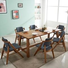 칸쿤 원목 6인용 식탁세트(의자6)