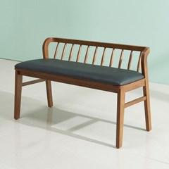 폴린 고무나무 원목 2인용 벤치의자