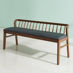 폴린 고무나무 원목 3인용 벤치의자