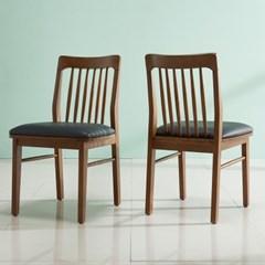 폴린 고무나무 원목의자 2EA