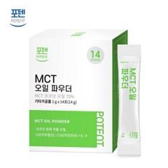 포텐 방탄커피 코코넛 MCT 오일 분말 14포 1박스