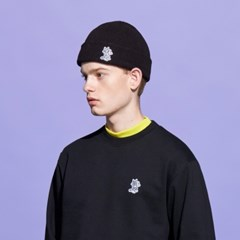 [FW19 T&J] One Point Beanie(Black)_(717725)
