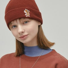 [FW19 T&J] One Point Beanie(Brown)_(717707)
