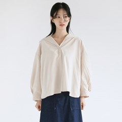 nature collar wide blouse (2colors)_(1361731)