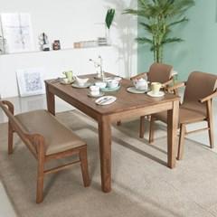 아모스 고무나무 원목 4인용 식탁(의자 미포함)
