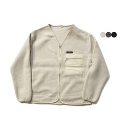 파이핑 플리스 노칼라 재킷 PIPING FLEECE NO COLLAR JACKET(3color)