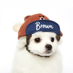 브라운 볼캡 모자
