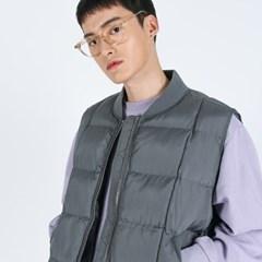 (UNISEX)Round Quilting Padded Vest(GREY)