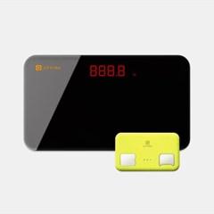 [결합] 휴대용 체지방측정기 지헬스(카드) + 미니체중계 지그램