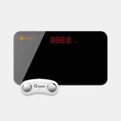 [결합] 휴대용 체지방측정기 지헬스(일반) + 미니체중계 지그램