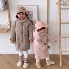 데) 체크 아동 떡볶이 코트