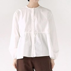 round neck frill blouse (3colors)_(1363755)