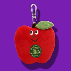 [미미키친] 그라디 사과 키링 카드지갑
