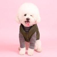패딩조끼(khaki) 어썸키즈 중형견패딩 대형견옷