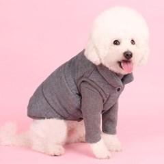 패딩조끼(gray) 어썸키즈 대형견패딩조끼 강아지겨울옷