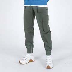 (UNISEX)Mild Eazy Zip-up Cargo-Jogger Pants(GREY)