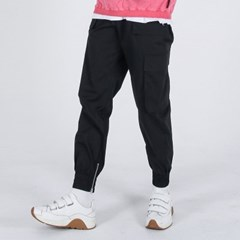 (UNISEX)Mild Eazy Zip-up Cargo-Jogger Pants(BLACK)