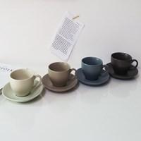 레트로 무광 커피잔세트(250ml) 집들이선물