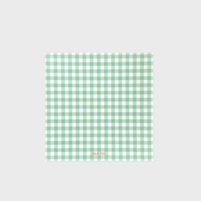 GINGHAM MEMO PAD - Mint