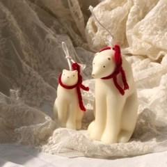 겨울 북극곰 캔들
