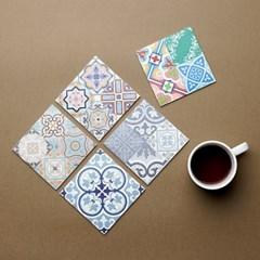 아다마알마 스페니쉬 타일 디자인 사각 코스터컵받침 1P