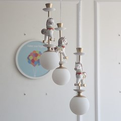 회전목마 3등펜던트(LED전구포함)