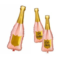 [브라이덜샤워 파티용품] 핑크 샴페인 대형 풍선 (1ea)