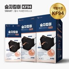 숨지킴이 KF94 대형 블랙 60매 황사방역마스크