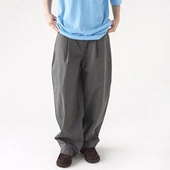 pintuck wide dry pants (charcoal)_(1368902)