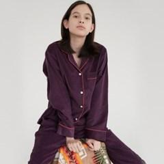 [w] Purple Corduroy Pajama Set