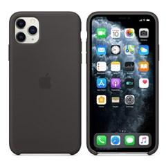 iPhone 11 Pro Max 실리콘 케이스 - 블랙 MX002FE