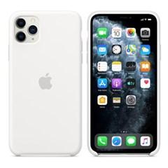iPhone 11 Pro Max 실리콘 케이스 - 화이트 MWYX2FE