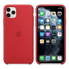 iPhone 11 Pro Max 실리콘 케이스 - 레드 MWYV2FE