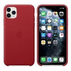 iPhone 11 Pro Max 가죽 케이스 - 레드 MX0F2FE