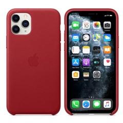 iPhone 11 Pro 가죽 케이스 - 레드 MWYF2FE