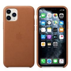 iPhone 11 Pro 가죽 케이스 - 새들 브라운 MWYD2FE