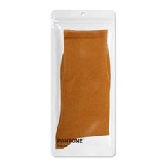 팬톤삭스 시나몬 Cinnamon 단색 컬러 장목 양말