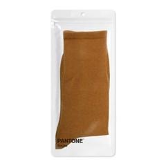 팬톤삭스 토피넛 Toffee Nut 단색 컬러 장목 양말