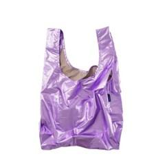 [바쿠백] 휴대용 장바구니 접이식 시장가방 Lilac Metal_(1797849)