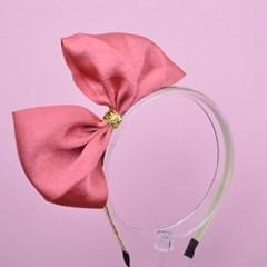 노블 핑크리본 헤어밴드